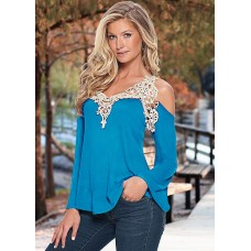 Summer blouse with Italian lace
