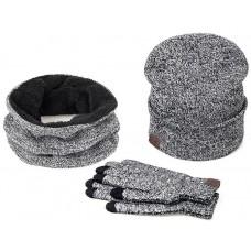 Winter Set Hat Scarf Gloves Model №1