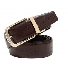"Exotic men's business belt ""Ostrich"" №1"