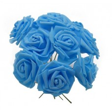 Charming artificial flowers - 10 heards, 8 cm per stud