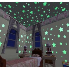 Luminuous 3D Stars fo Bedroom