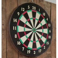 Wooden Dart Board + 4/6 Arrows
