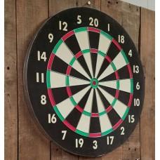 Wooden Dart Board + 4/6/6 Arrows