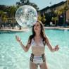 Water confetti beach ball