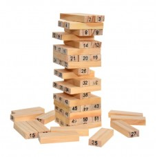 Wooden numeral Jenga