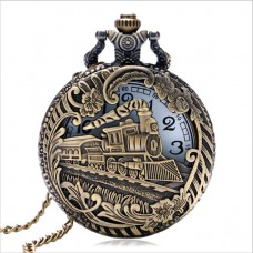 Antique pocket watch OLD TRAIN